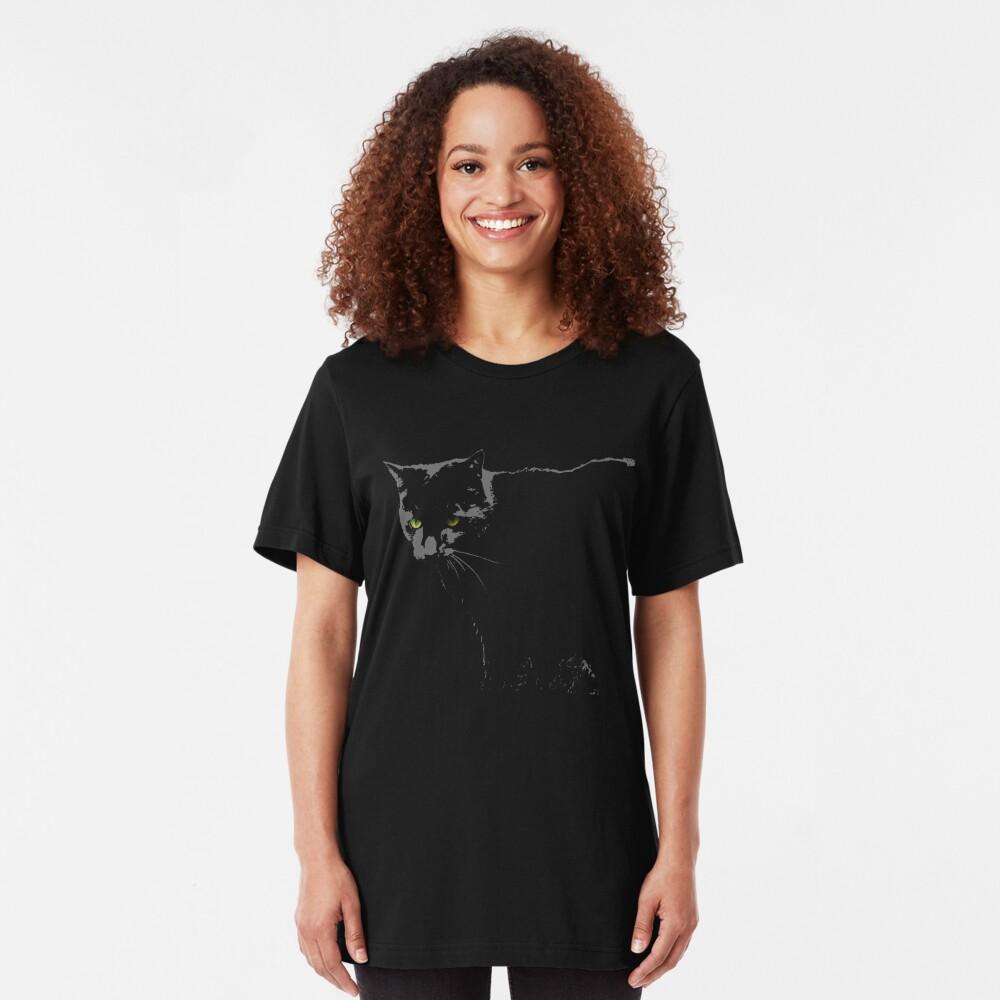 Black Cat 1 Slim Fit T-Shirt