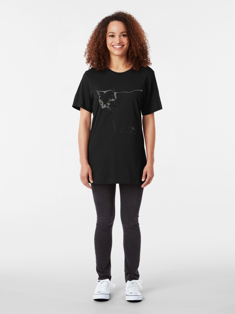 Alternate view of Black Cat 1 Slim Fit T-Shirt
