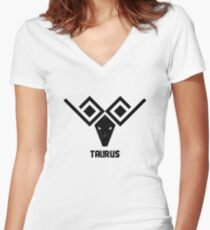 taurus Women's Fitted V-Neck T-Shirt