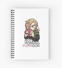 Not a morning PURRson Spiral Notebook