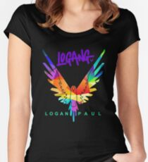 LOGANG Women's Fitted Scoop T-Shirt