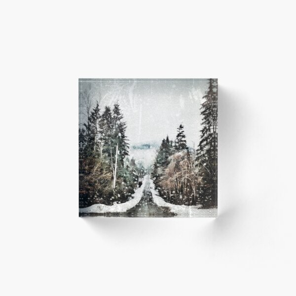 On a Cold Road Acrylic Block