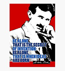 Nikola Tesla Quote 3 Photographic Print