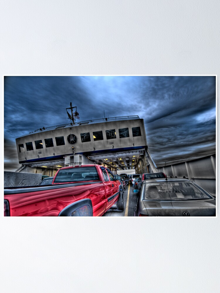 Alternate view of Red Truck on the Ferry Poster