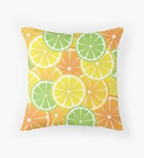 Various Citrus Slices 3 Throw Pillow