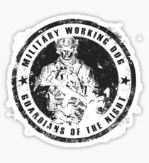 Military working dog - Guardians of the night Sticker