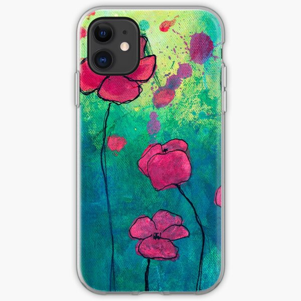 Poppies 2 iPhone Soft Case