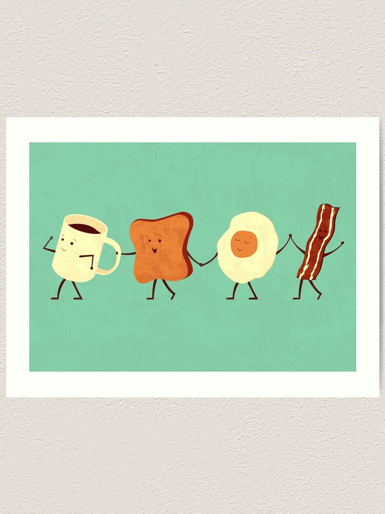 Alternate view of Let's All Go And Have Breakfast Art Print