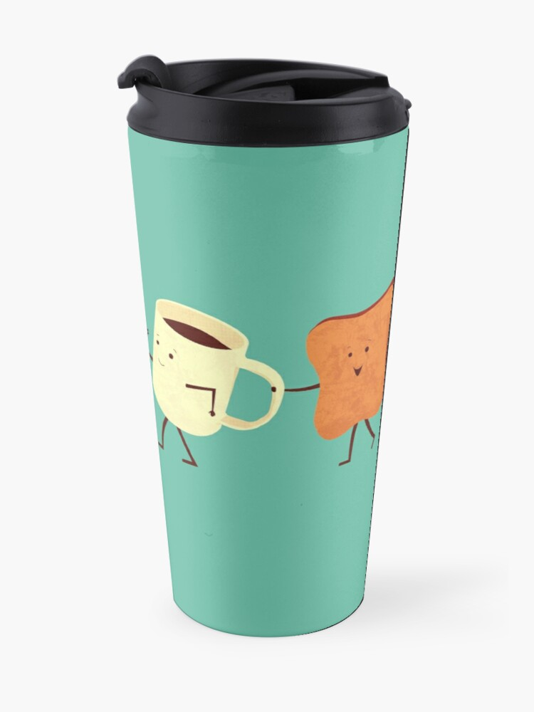 Alternate view of Let's All Go And Have Breakfast Travel Mug