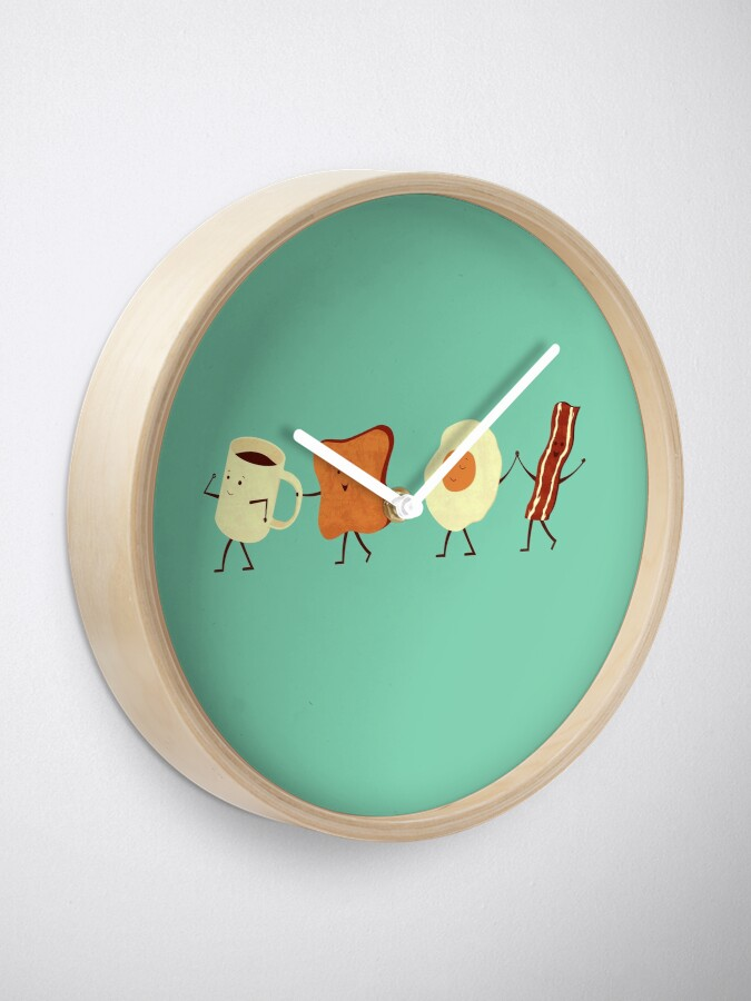 Alternate view of Let's All Go And Have Breakfast Clock