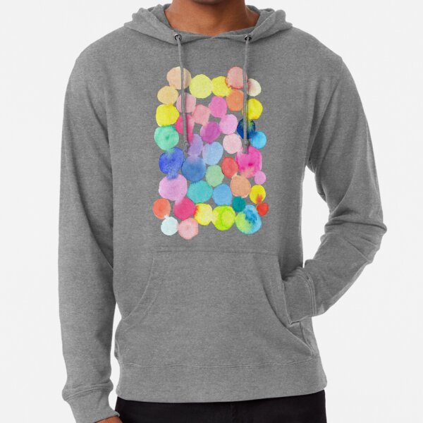 Colourful Watercolour Circles Lightweight Hoodie