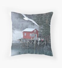 Halibut Cove, Alaska Throw Pillow
