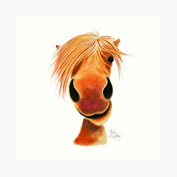 HoRSe PRiNT ' HaPPY GiNGeR NuT ' BY SHiRLeY MacARTHuR Art Print