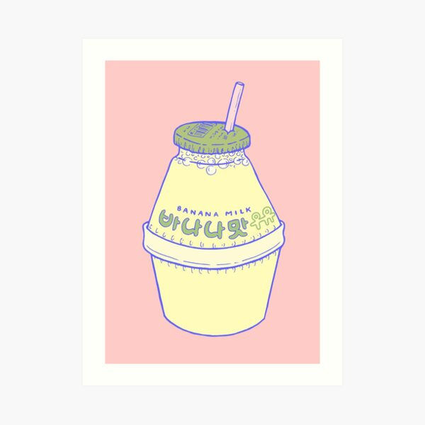 Banana Milk Art Print