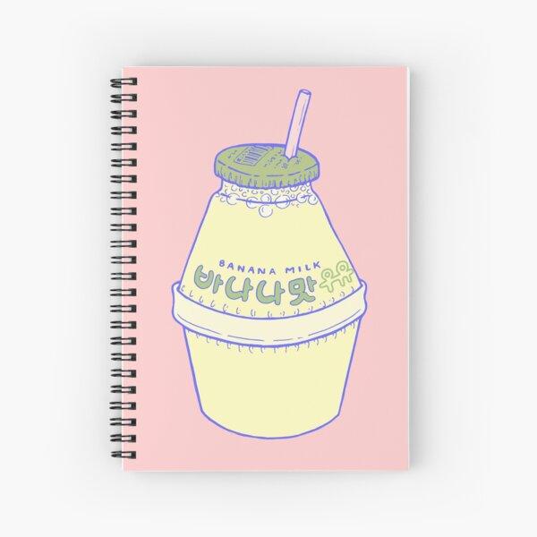 Banana Milk Spiral Notebook