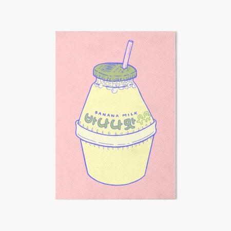 Banana Milk Art Board Print