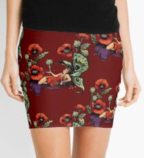 Poppy Floral Print Mini Skirt