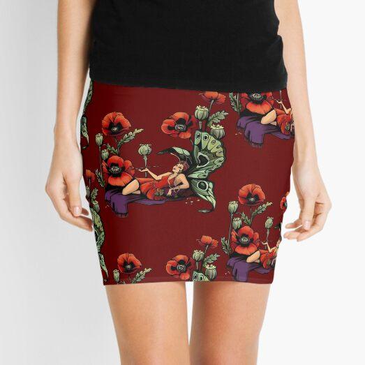 Poppy Floral Print Mini Skirt