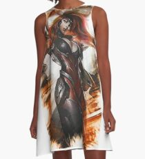 Gun Goddess Miss Fortune A-Line Dress