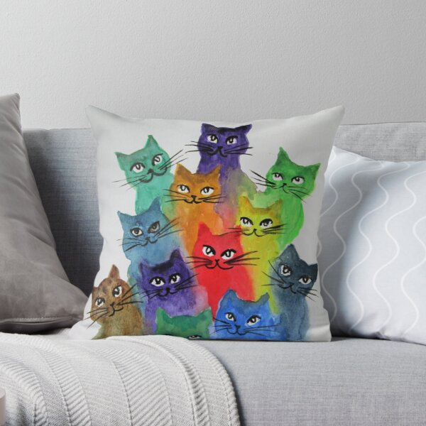 Cats Lots Of Cats Throw Pillow