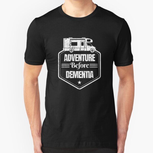 Adventure Before Dementia distressed Slim Fit T-Shirt