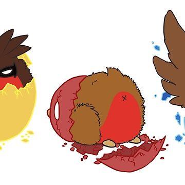 Go!Robins! - Hatching a Robin by yolinart
