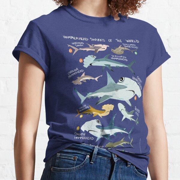 Hammerhead Sharks of the World Classic T-Shirt