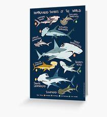 Hammerhai Haie der Welt Grußkarte