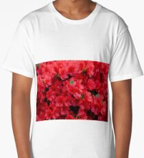 Background of beautiful red azalea flowers Long T-Shirt