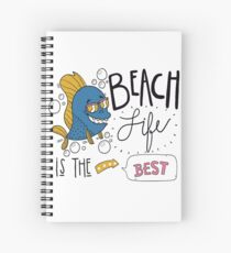 Beach life is the best T-shirt design , Unisex tees  Spiral Notebook
