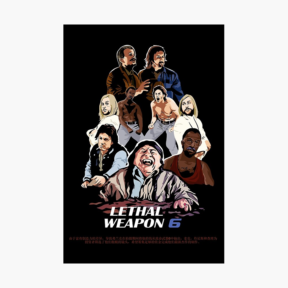 Lethal Weapon 4 Classic Large Movie Poster Art Print Maxi A1 A2 A3 A4