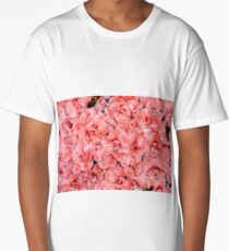 Background of beautiful orange azalea flowers Long T-Shirt