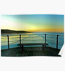 Saltburn Pier at Sunset. Poster