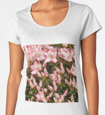 Background of beautiful orange azalea flowers Women's Premium T-Shirt