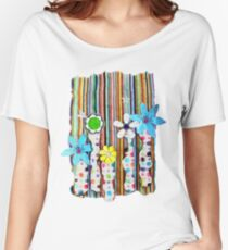 Cut n Paste Flowers Women's Relaxed Fit T-Shirt