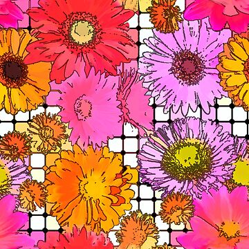 Flower Grid - Abstract by MAMMAJAMMA