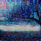 Redreaming Deep Dreamed Apple Tree  by WENDY BANDURSKI-MILLER