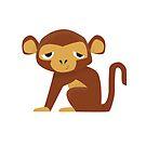 Sleepy Monkey - Cute Animal Illustration by SpikyHarold