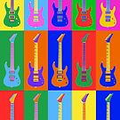 Electric Guitars In Color by apadilladesign