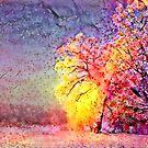 Redreaming Deep Dreamed Spring Blush  by WENDY BANDURSKI-MILLER