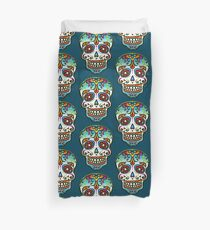 Mexican Sugar Skull, Day of the Dead, Dias de los muertos Duvet Cover