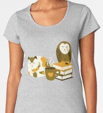 Cozy Morning Animals Women's Premium T-Shirt
