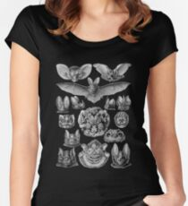 Bat Haeckel Illustration Women's Fitted Scoop T-Shirt