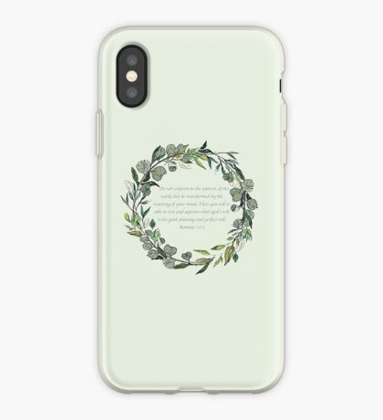 Romans 12:2 iPhone Case