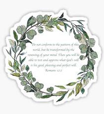 Romans 12:2 Sticker