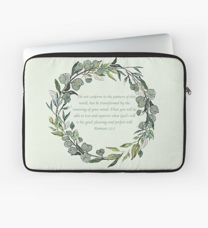 Romans 12:2 Laptop Sleeve