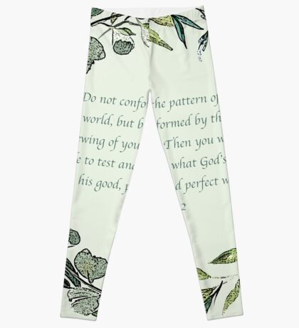 Romans 12:2 Leggings