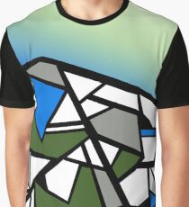 Glacier abstract blue mountain vector landscape Graphic T-Shirt