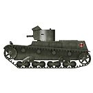 Polish WWII era Light Tank 7tp dw (with roundel) by Escodrion