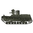 Polish WWII era Light Tank 7tp dw (without roundel) by Escodrion